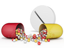 Kapsel und Pille Stockfotos