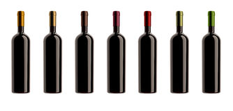 Kapselfarben-Flaschenansammlung Stockfoto