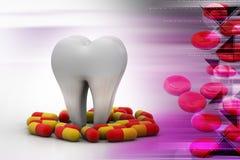 Kapseln mit dem Zahn vektor abbildung