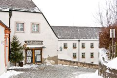 Kapseln Sie Shop in Andechs-Abtei, Bayern, Deutschland ab Stockbilder