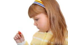 kapsuły dziewczyny chwytów ja target1454_0_ Zdjęcie Royalty Free
