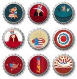kapsyler USA Arkivbild