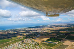 Kapsztad, Fałszywa zatoka jak widzieć od małego samolotu Zdjęcie Stock