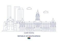 Kapsztad miasta linia horyzontu, Południowa Afryka Zdjęcia Royalty Free