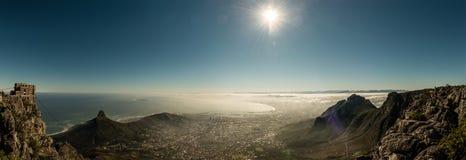 Kapsztad, Południowa Afryka & x28; widok od stołowego mountain& x29; Fotografia Stock