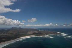 Kapsztad widok od śmigłowcowego Południowa Afryka obrazy royalty free