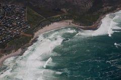 Kapsztad widok od śmigłowcowego Południowa Afryka obraz royalty free