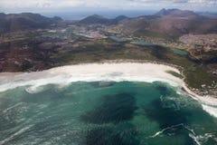 Kapsztad widok od śmigłowcowego Południowa Afryka zdjęcie royalty free