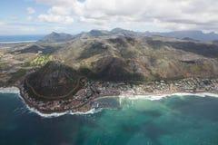 Kapsztad widok od śmigłowcowego Południowa Afryka fotografia royalty free