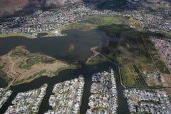 Kapsztad widok od śmigłowcowego Południowa Afryka zdjęcia royalty free