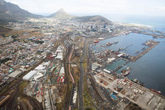 Kapsztad widok od śmigłowcowego Południowa Afryka fotografia stock
