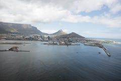 Kapsztad widok od śmigłowcowego Południowa Afryka Obraz Stock