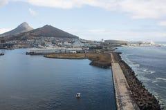 Kapsztad widok od śmigłowcowego Południowa Afryka Zdjęcie Stock