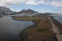 Kapsztad widok od śmigłowcowego Południowa Afryka Obrazy Stock