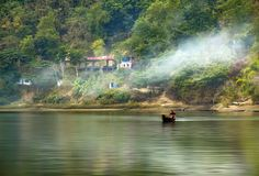 Kaptai Lake royalty free stock photo