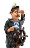 kapten isolerat styrningshjul Royaltyfri Foto