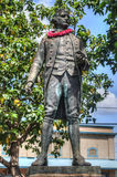 Kapten James Cook Statue Kauai Hawaii royaltyfri foto