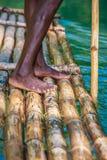 Kapten på bambufartyget Royaltyfria Foton