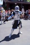 Kapten Rex på Star Wars tillbringar veckoslutet på den Disney världen royaltyfria bilder