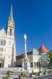 Kaptol square. Cathedral of Virgin Mary and Kaptol square, Zagreb, Croatia Royalty Free Stock Image