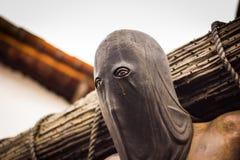 Kapturzasta Średniowieczna kat statua w Taxco Guerrero Meksyk Zdjęcie Royalty Free