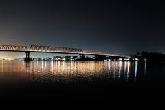 Kapuas do sungai do tol de Jembatan Fotografia de Stock