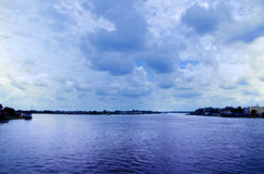 Kapuas flod Royaltyfri Fotografi