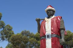 Map the Miner as Father Christmas, Kapunda, South Australia Royalty Free Stock Image
