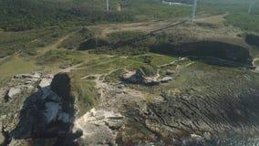 Kapurpurawan Rockowa formacja w Ilocos Norte Filipiny zdjęcie wideo