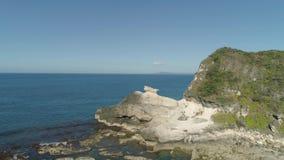 Kapurpurawan Rockowa formacja w Ilocos Norte Filipiny zbiory wideo