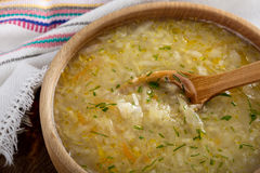 Kapusniak ukrainien de soupe à choucroute Image stock