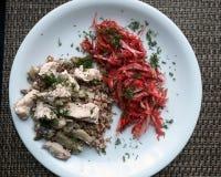 Kapusta i kurczak dinner zdjęcie royalty free