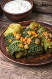 Kapusty rolka faszerujący warzywo, Zdjęcia Royalty Free