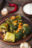 Kapusty rolka faszerujący warzywo, Obraz Royalty Free