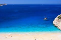 Kaputas Beach. Kaputaş Beach is a long beach between Kaş and Kalkan in southwestern Turkey Royalty Free Stock Photography