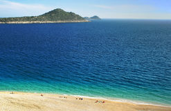Kaputas Beach, Mediterranean coast, Turkey royalty free stock photography