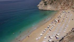 Kaputas Beach Turkey stock video