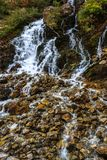 Kapuzbasi瀑布在开塞利土耳其 库存图片