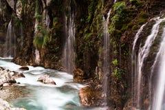 Kapuzbasi瀑布,开塞利,土耳其 库存照片