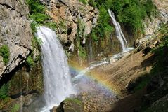 Kapuzbasi Waterfall (Aladaglar) - landmark attraction in Turkey Royalty Free Stock Image