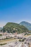 Kapuzinerberg hill at Salzburg, Austria Royalty Free Stock Photos
