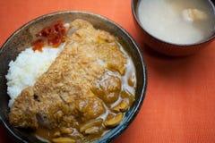 karÄ giapponese di katsu (curry) Fotografie Stock Libere da Diritti