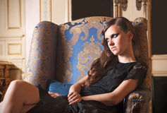 karła splendoru siedzący kobiety potomstwa Obraz Royalty Free