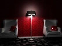 karła wewnętrzni lampowi ładni dwa ilustracji