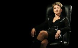 karła biznesowa portreta kobieta Zdjęcia Royalty Free