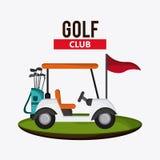 Kar en clubspictogram Het ontwerp van de golfsport Grafische vector Royalty-vrije Stock Afbeeldingen