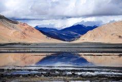 Kar jezioro w Ladakh Zdjęcia Royalty Free