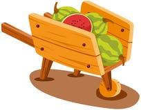 Kar met watermeloen Stock Afbeeldingen