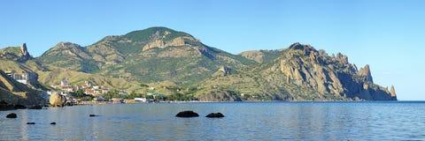 Kara Dag Mountain i Krim, Ukraina Fotografering för Bildbyråer