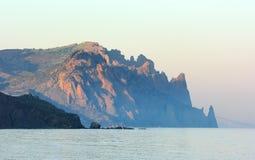 The Kara-Dag mountain is an inactive volcano. Royalty Free Stock Photos